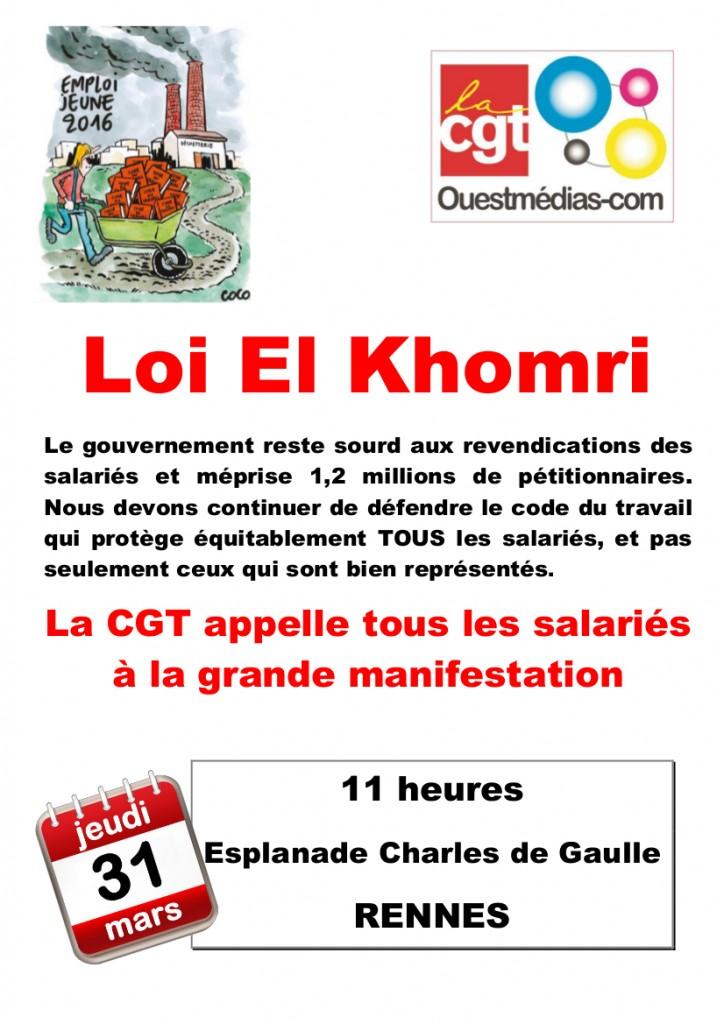 Affiche manif 31 mars Rennes V3